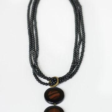 šamanka, náhrdelník, turmalín, achát