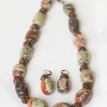 strážkyňa lesa, náhrdelník, jaspis
