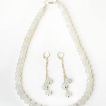 nov, náhrdelník, náušnice, mesačný kaeň