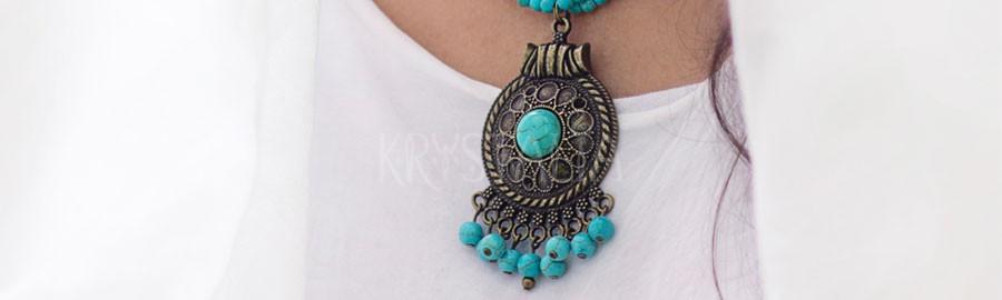 antika, náhrdelník, tyrkenit