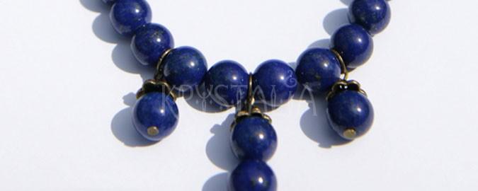 athena, náhrdelník, náušnice, lapis lazuli