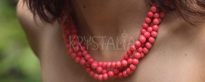 bozk, náhrdelník, ružový koral