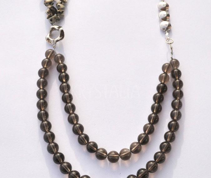 nespútaná, náhrdelník, záhneda, jaspis dalmatin