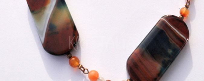 svojou cestou, náhrdelník, achát, karneol, mesačný kameň