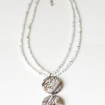úsvit, náhrdelník, magnezit, achát