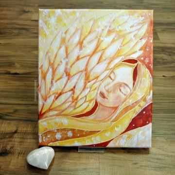 anjelský obraz, selenitové srdce