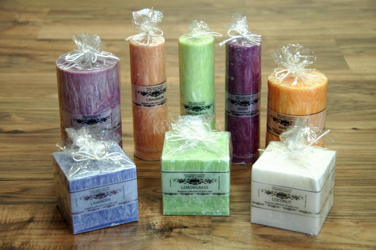 Vonné sviečky - rôzne vône, tvary, veľkosti