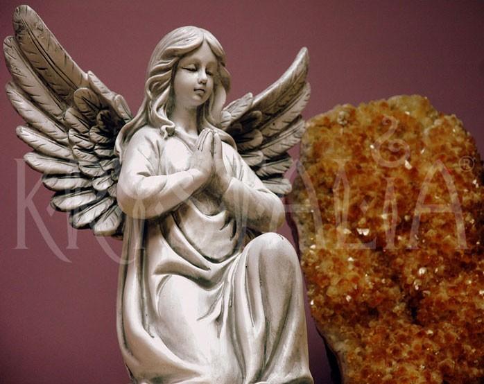 Soška anjel a citrínová drúza