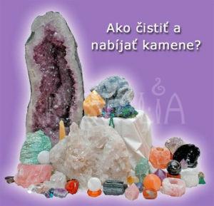 ako čistiť a nabíjať kamene