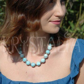 larimar náhrdelník