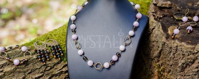náhrdelník, náramok, náušnice, Posolstvo mieru, kunzit, záhneda