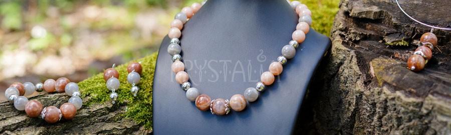 náhrdelník, náramok, náušnice, Tá, ktorá pozná tajomstvo života..., mesačný kameň