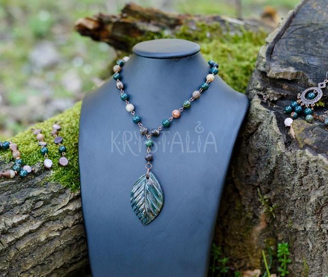 náhrdelník, náramok, náušnice, Večná krása, jadeit, skamenelé drevo, heliotrop