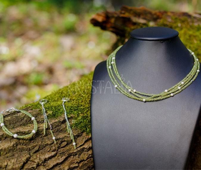 náhrdelník, náramok, náušnice, Keď otvorím svoje srdce, olivín