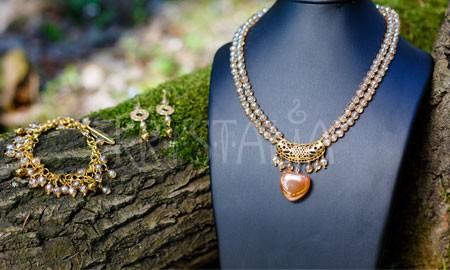 náhrdelník, náramok, náušnice, Zasvätená, aqua aura