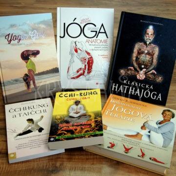 Knihy o cvičení – joga, čchi-kung, tai-chi, sedem Tibeťanov