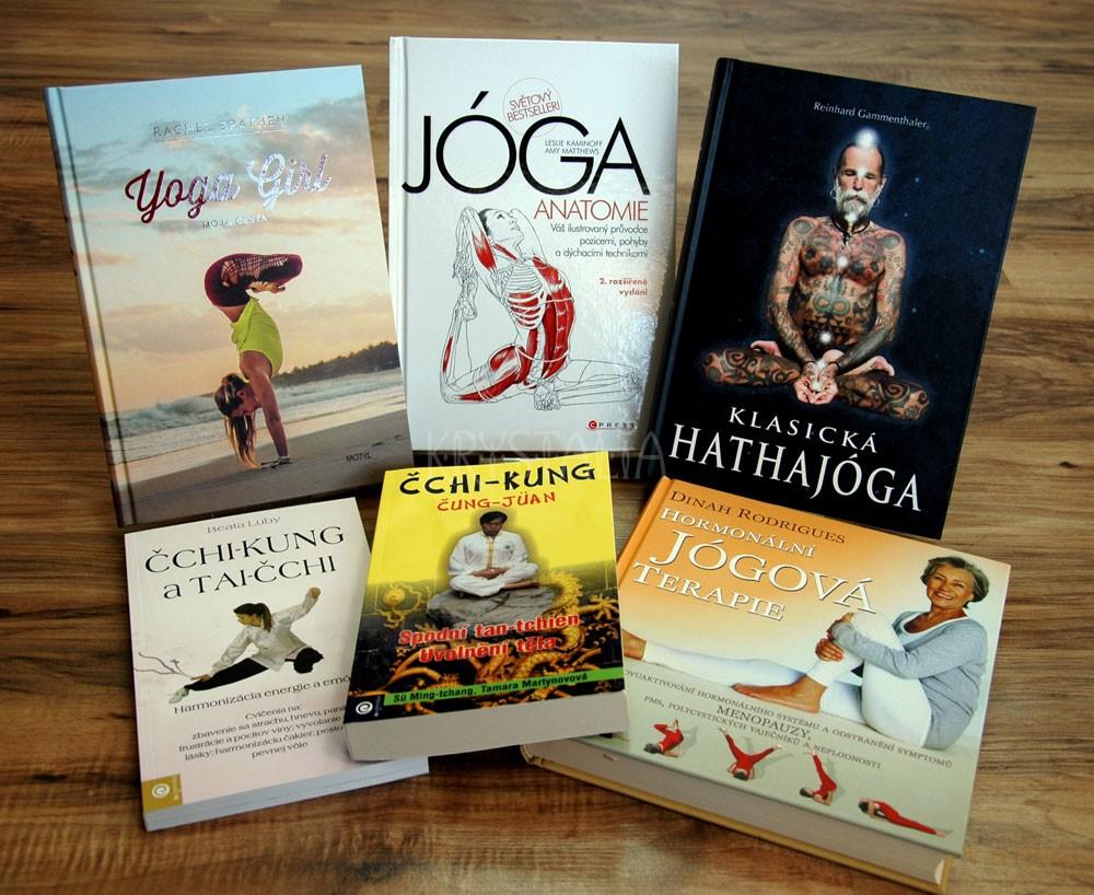 Knihy o cvičení - joga, čchi-kung, tai-chi, sedem Tibeťanov