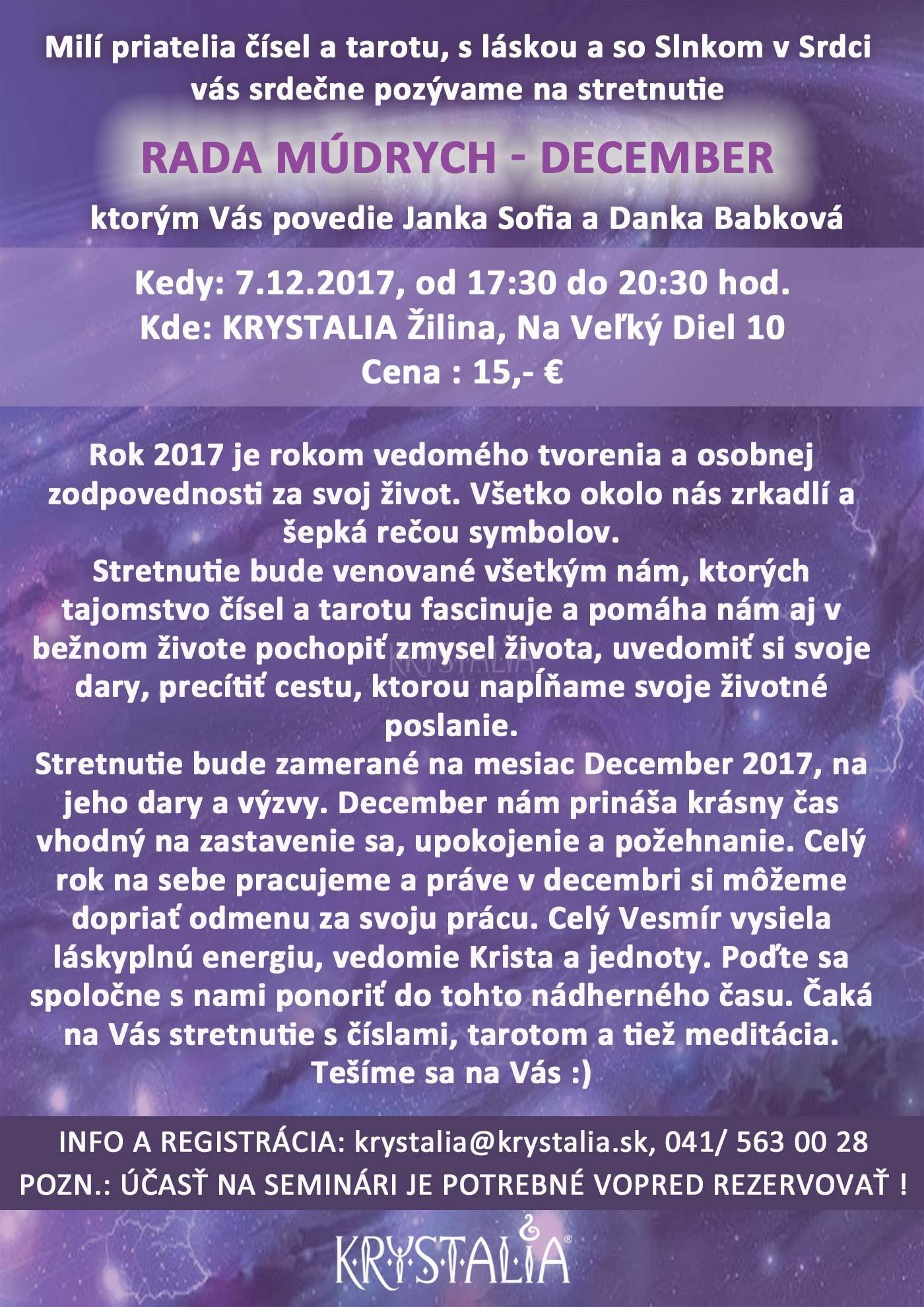 Rada múdrych s Jankou Sofiou a Dankou