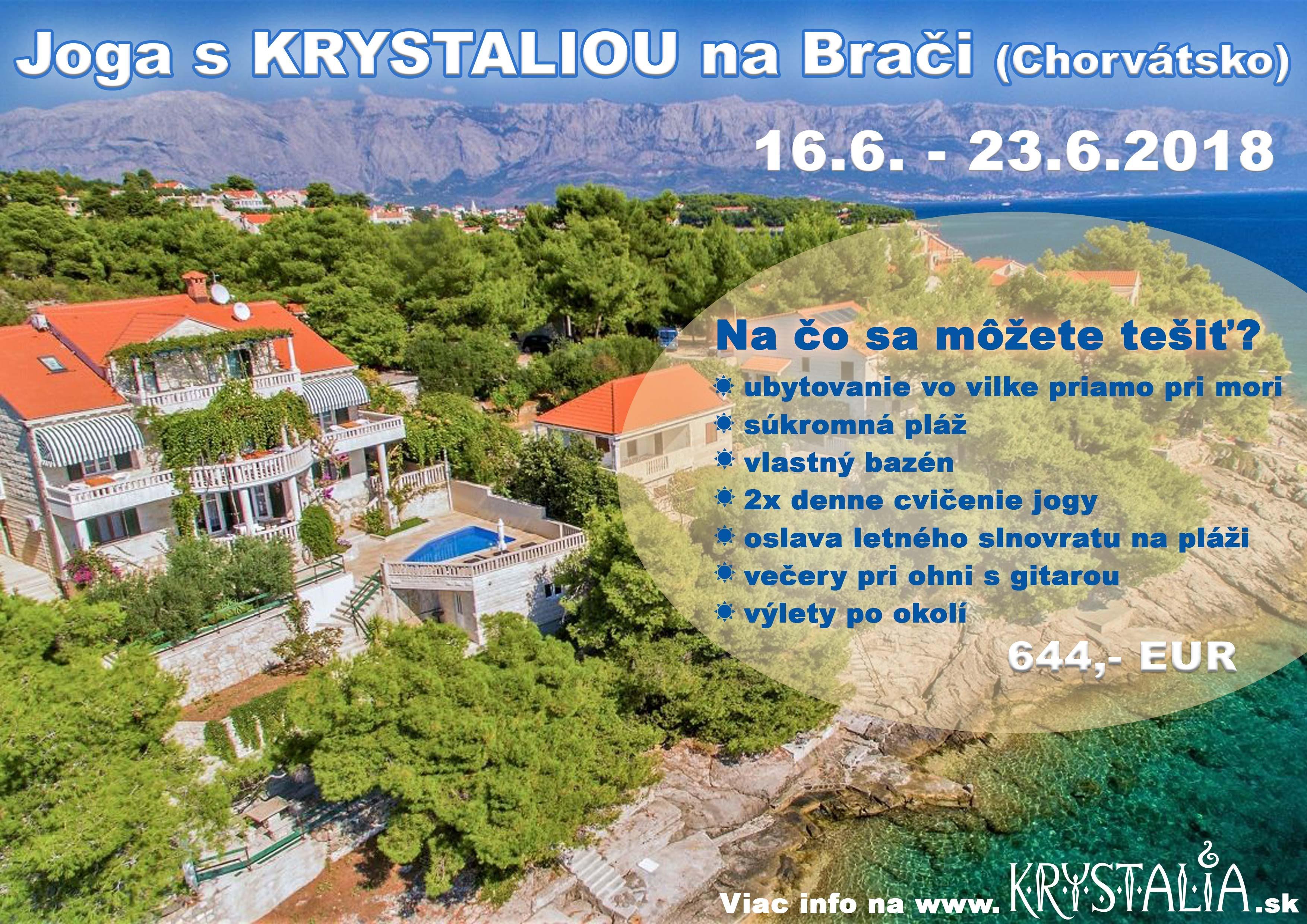 chorvatsko joga pobyt krystalia