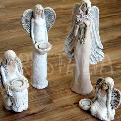 anjel, soška, svietnik