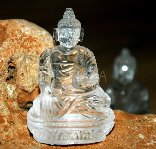 Buddha soška krištáľ