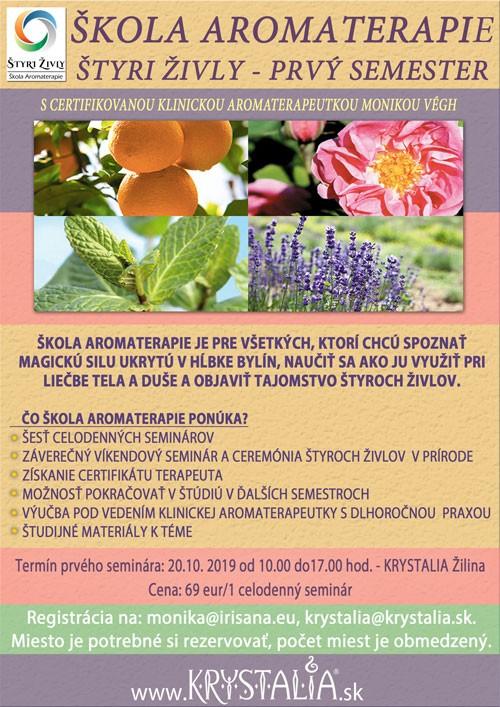 škola aromaterapie štyri živly