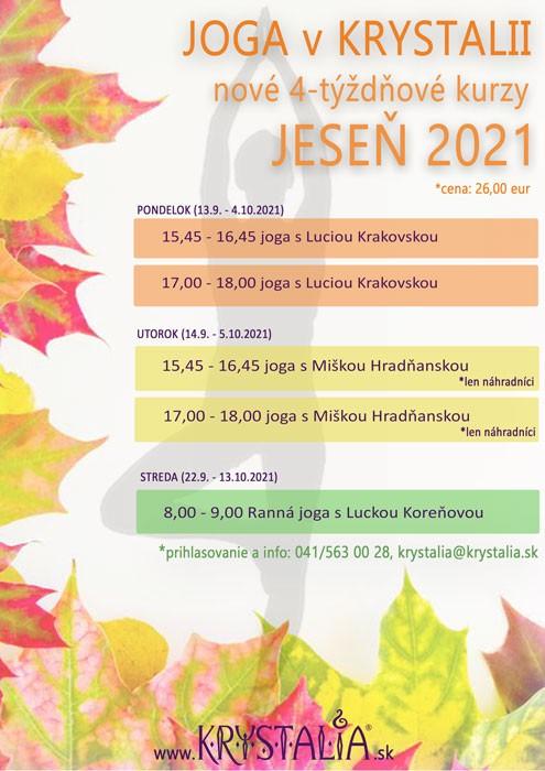 Nové kurzy jogy v septembri